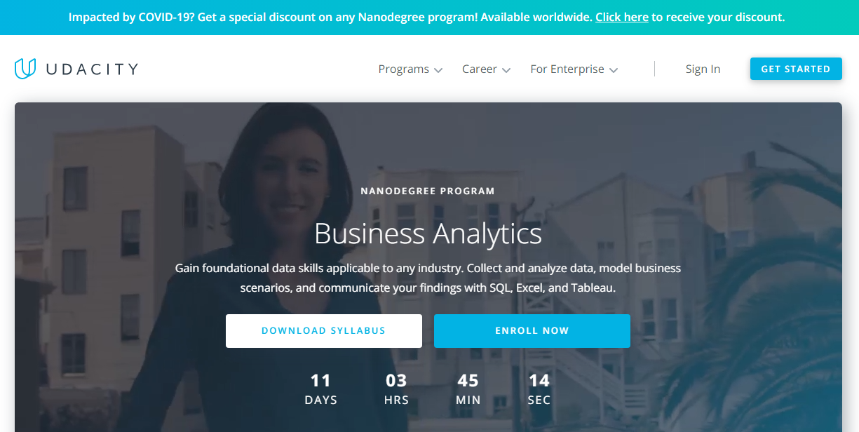 Udacity Business Analytics/Analyst Nanodegree Review,  Is it Worth ?