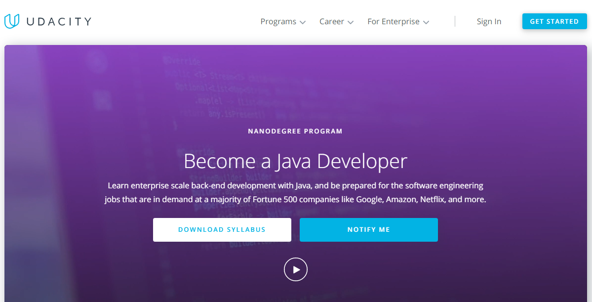 Udacity Java Developer Nanodegree Review