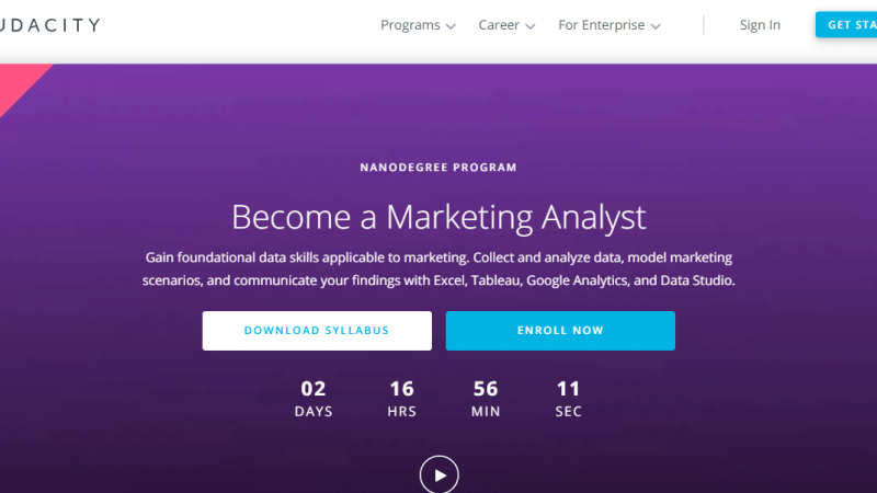 Udacity Marketing Analytics Nanodegree Review