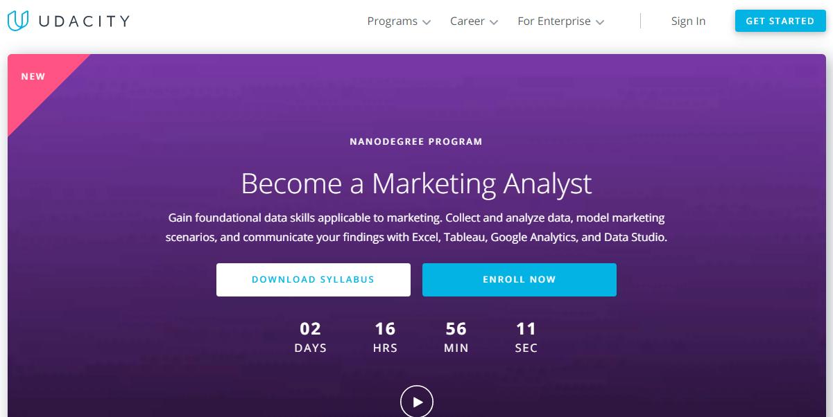 Udacity Marketing Analytics Nanodegree Review