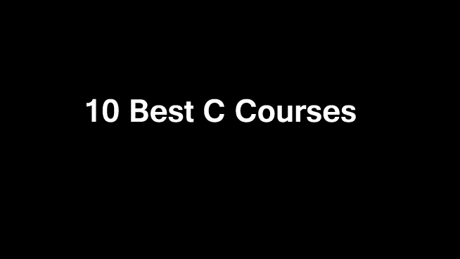 10 Best C Courses Online