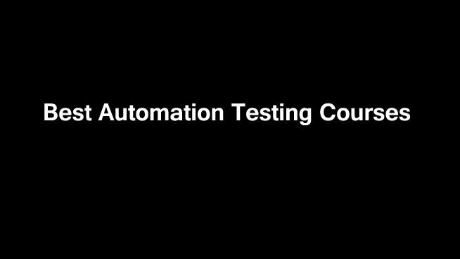 best-automation-testing-courses