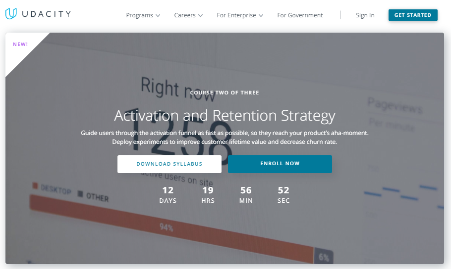 Udacity Activation and Retention Strategy Nanodegree Review