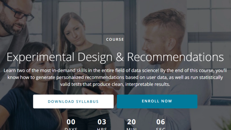 Udacity Experimental Design Recommendations Nanodegree Review